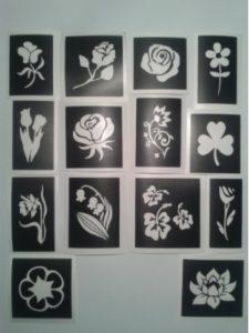 Dazzle Glitter Tattoos orchid  tattoo stencils