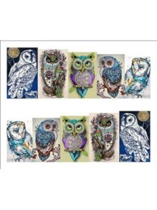 Thailand owl  tattoo templates