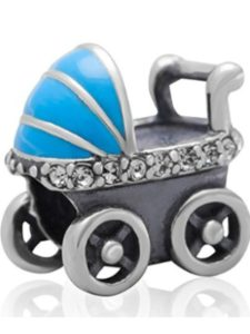 Fits PANDORA Charms baby carriage