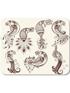 James. A peacock  henna designs