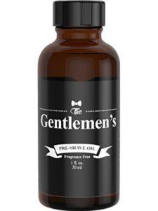 The Gentlemen's pre shave oil  electric razors
