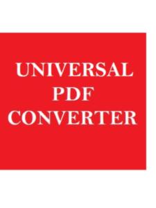Universal  PDF Converter program  pdf converters