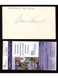 B & E Collectibles sam snead signature