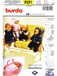 Burda sewing pattern  doll carriers
