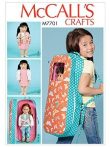 MCCALLS sewing pattern  doll carriers