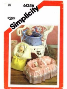 Simplicity sewing pattern  doll carriers