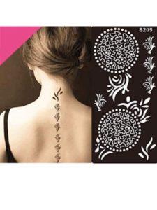 Autumn Water tree  tattoo stencils