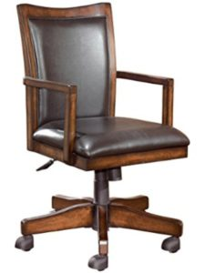 Ashley Furniture wood  rolling chairs