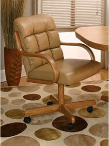 Caster Chair Company wood  rolling chairs