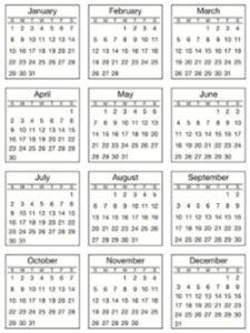 Srm Press 2017  mini desk calendars