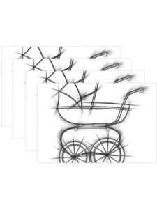 WIEDLKL    baby carriage drawings