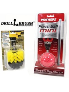 Mothers® and Drillbrush Power Scrubber® ball  wheel cleanings