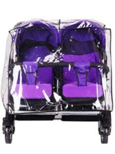 Fitlyiee britax b agile  double stroller rain covers