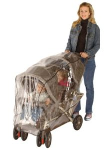 HIS Juveniles britax b agile  double stroller rain covers