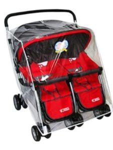 Pinji britax b agile  double stroller rain covers