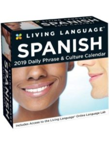 Spanish Living Language Box Calendar office word