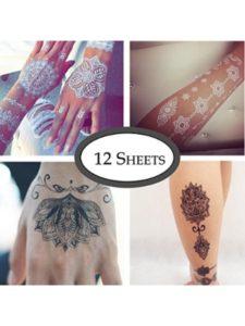 COKOHAPPY crown  henna tattoos