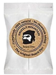 Grizzly Mountain Beard Dye dark beard dye  brown hennas