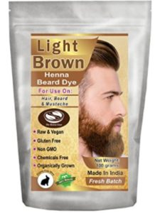 The Henna Guys dark beard dye  brown hennas