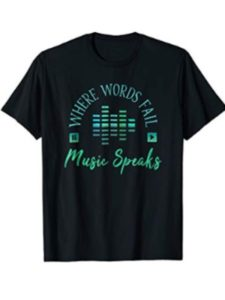 Tee Shirts for Music Lovers font  broadway musicals