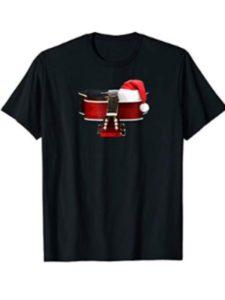 Music t shirt Guitar Santa Hat reggae guitar