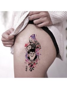 TAFLY geisha  tattoo designs