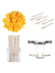 Dress My Cupcake glass jar  tissue papers