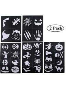 734779769300 glitter tattoo stencil kits