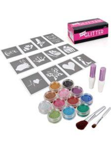 Bundle Monster glitter tattoo stencil kits