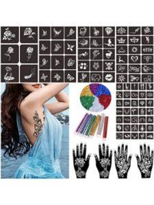 Knit glitter tattoo stencil kits