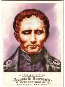 Topps    inventor louis brailles