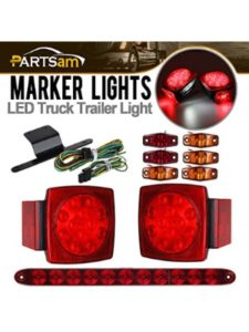 Partsam led car  trailer light kits