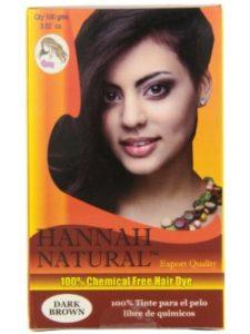 Hannah Natural natural dye  brown henna hairs