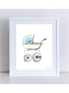 Laura Row Studio old fashioned  baby carriages