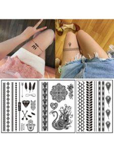 MoreShow simple leg  henna designs