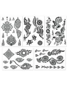YIJIE simple leg  henna designs