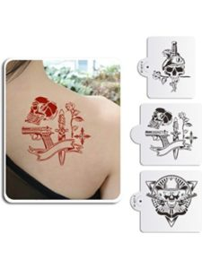AK ART KITCHENWARE skull tattoo stencil
