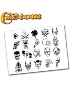 Airbrush Depot skull tattoo stencil