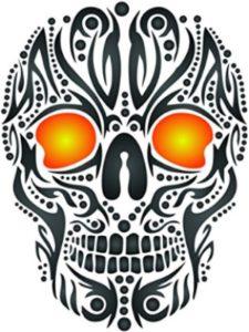 Stencils for Walls skull tattoo stencil