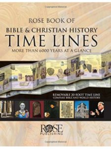 Rose Publishing timeline poster  bible histories