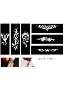 Tie tribal tattoo stencil