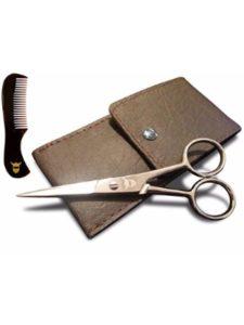 Striking Viking mustache scissors