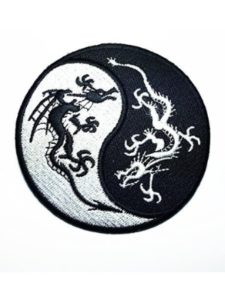 Large husky Patches yin yang  tattoo designs